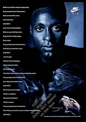 1991 Jerry Rice photo Nike Air Cross Trainer Low shoe vintage print ad