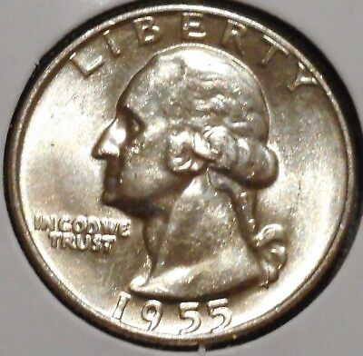 Washington Silver Quarter - 1955-D UNC - $1 Unlimited Shipping.