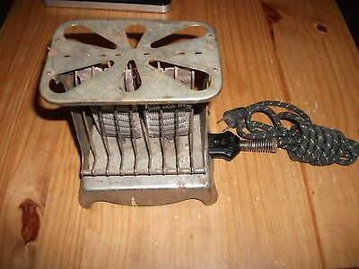 Antique Early 1900's First Toaster ~ El tosto Pacific Electric Co. ~ Works !