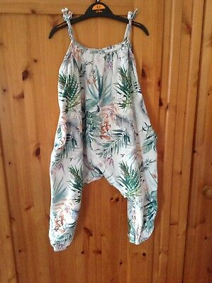 Lovely Baby Girls Next Summer Romper Playsuit Dungarees Age 11/2-2 Years 18-24 M