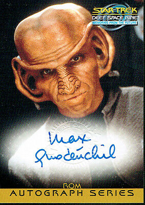 Star Trek Ds9 Memories From The Future Autograph Card A17 Max Grodenchik As Rom
