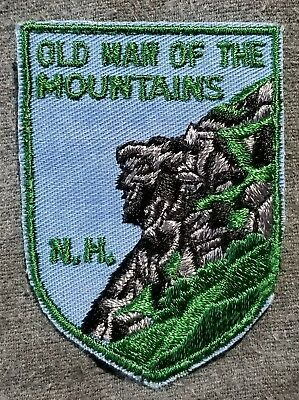 LMH Patch OLD MAN of MOUNTAINS Rock Formation NH Great Stone Face Profile Cannon