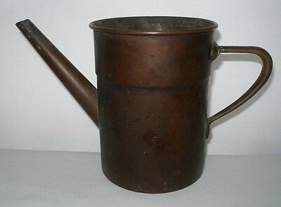 Incredible ARTS & CRAFTS Signed COPPER WATERING CAN Hand Crafted MADE in ITALY