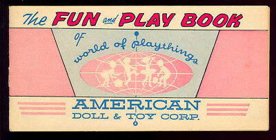 The Fun and Play Book #nn Not in Guide American Doll Giveaway Comic 1960 VG-FN