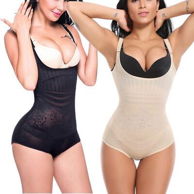 Women Underbust Full Body Shaper Shapewear Tummy Firm Control Slimming Bodysuit