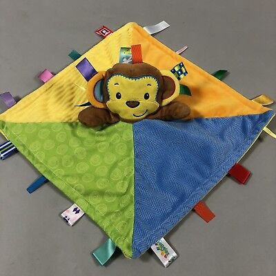 Taggies Baby Security Blanket Colorful Monkey