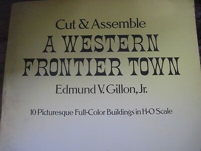 1979 WESTERN FRONTIER TOWN(10 bldgs) to Cut & Assemble - HO Scale-UNUSED