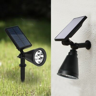 Solar Power Garden Lamp 4 LED Spot Light Outdoor Lawn Landscape Spotlight Lamps
