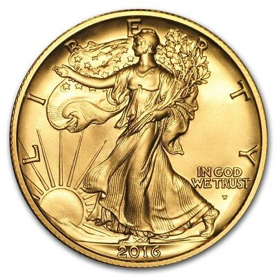 Walking Liberty Centennial Gold Half Dollar USA 1/2 oz Gold 2016