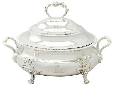 Antique Georgian Sterling Silver Soup Tureen - 1809