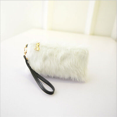 Fashion Women Cross Body Faux Fur Handbag Satchel Clutch Purse Bags BS