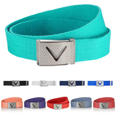 Callaway Golf Mens 2018 Solid Webbed Commodity Belt Cotton One Size Adjustable