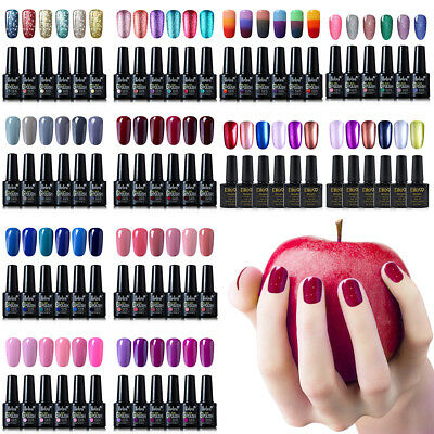 Belen Soak Off  6 Colors Set Gel Nail Polish UV LED Need Top Base Long lasting