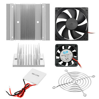 Refrigeration Radiator Cooling System Thermoelectric Peltier DIY Tool Kit TE956
