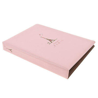 80 Sheets Album Baby Newborn Photo Storage Book for 5 inch Pictures - Pink