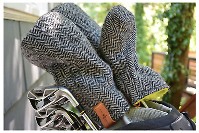 Golf Set Head Cover FOLIAGE GOLF Head Cover, Shure Wolle  3er Set, Driver 2 Holz