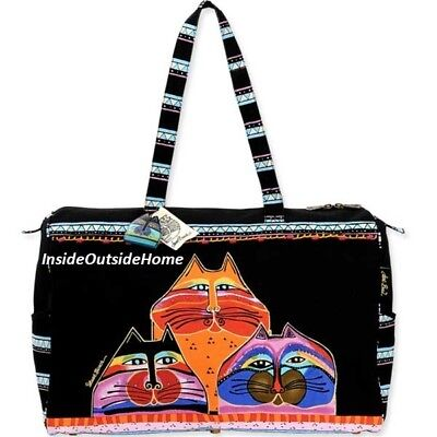 Laurel Burch Fat Cats Travel Tote Beach Cruise Tack Sport Bag RETIRED LAST ONE