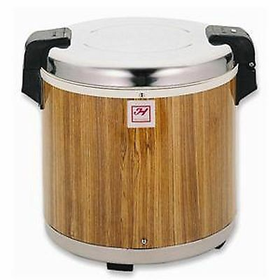 1 Set SEJ21000 Electric Rice Warmer Serves 50 Cups Cooked Rice Wood Grain Finish