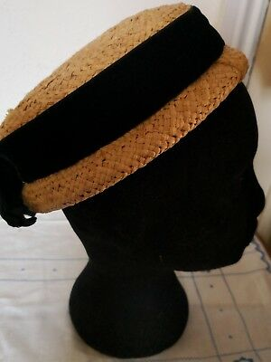CHILD'S STRAW HAT by MARSHALL & SNELGROVE c. 1930s