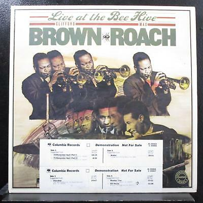 Clifford Brown, Max Roach - Live At The Bee Hive 2 LP Mint- JG 35965 White Promo