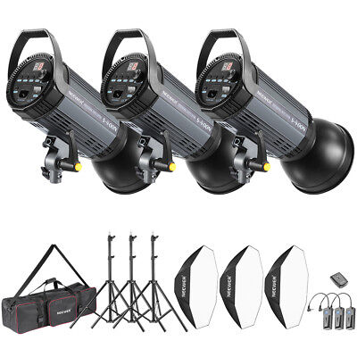 Neewer 3 Kit Illuminazione 1200W Strobo & Softbox con RT-16 Wireless Trigger
