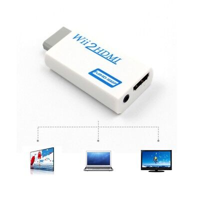 WII TO HDMI Video Converter Adapter Full HD 720P 1080P +3.5mm Audio For PC/HDTV