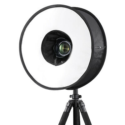 """Neewer 18"""" Round Universal Collapsible Ring Flash Diffuser Soft Box for DSLR"""