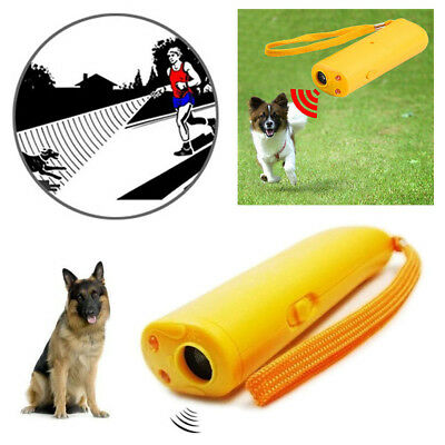 Yellow Ultrasonic Anti Stop Barking Pet Dog Train Repeller Trainer Device Puppy
