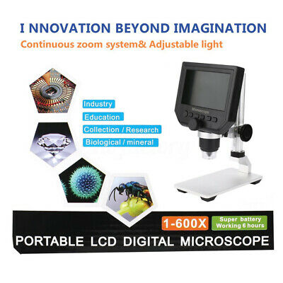 MUSTOOL G600 Digital 1-600X 3.6MP 4.3'' HD LCD Display Microscope Magnifier 64G
