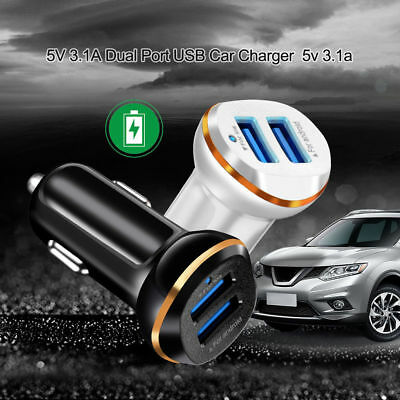 3.1A Dual USB Fast Charging Car Charger Adapter For iPhone Samsung Smart Phone