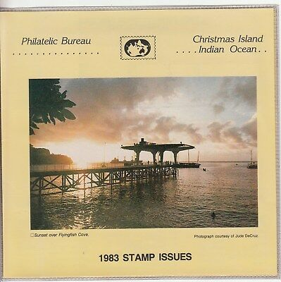 Christmas island: 1983 Stamp issues Official Post office pack. MUH & cheap