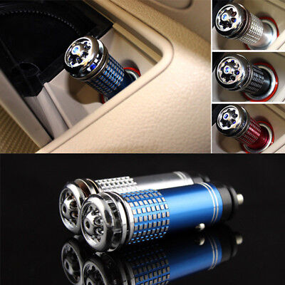 Car's Oxygen Bar Ionizer Ozone Cleaner Universal Auto Fresh Air Ionic Purifier