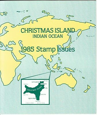 Christmas island: 1985 Stamp issues Official Post office pack. MUH & cheap