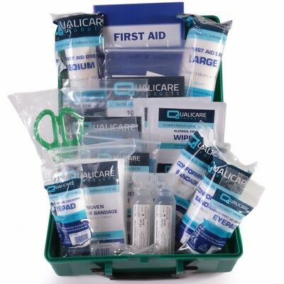 SMALL TRAVEL BSI FIRST AID KIT Hard Case Box Workplace Car Taxi Bus Medical Set