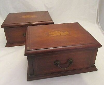 A Fine Pair of Edwardian Wooden Drawers c1905 - Inlaid Sea Shell