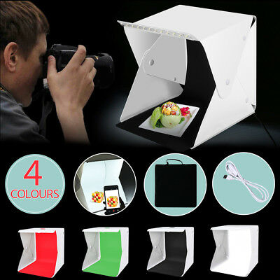Portable Photo Studio 40cm LED Lighting Tent Light Box Room Cube+4 Backdrops Kit