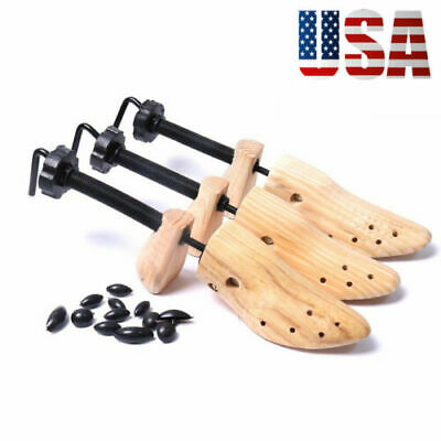 Unisex 2-way Adjustable Wooden Shoe Stretcher Shoe Expander Shaper Tree US(5-10)