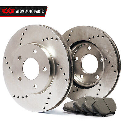 2011 2012 GMC Savana 3500 (See Desc.) (Cross Drilled) Rotors Ceramic Pads R
