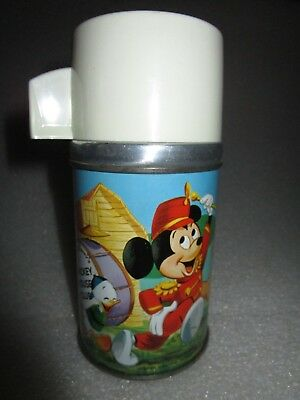 Vintage Mickey Mouse Club Metal Aladdin Thermos Nearly Mint!