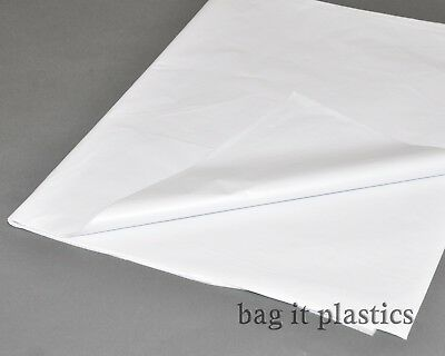 """100 SHEETS ACID FREE WHITE TISSUE WRAPPING PAPER 18"""" x 28"""" / 45cm x 70cm"""