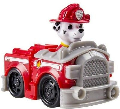 Paw Patrol Rescue Racer Marshall in Fire Truck Figure [Figure Does Not Come Out]