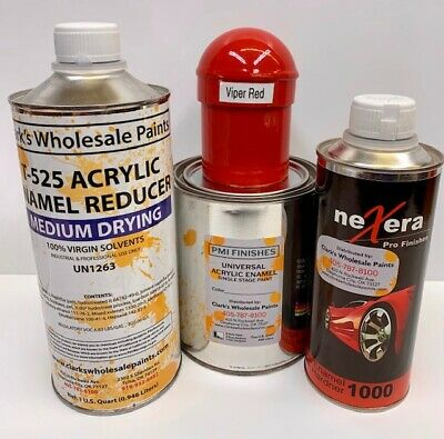 Acrylic Enamel Paint >> Viper Red Quart Kit Single Stage Acrylic Enamel Car Auto