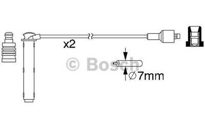 BOSCH Ignition Leads For ROVER 25 0 986 357 154