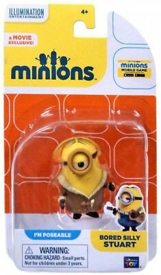 Despicable Me Minions Movie Bored Silly Stuart Action FIgure