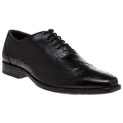 New Mens Lotus Black Bishop Leather Shoes Brogue Lace Up