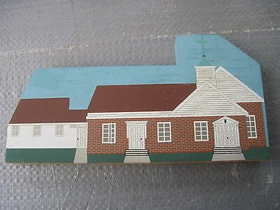 1993 R.R.Creations Wooden Carey's United Methodist Church Replica..Very Handled