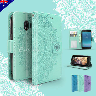 Floral Luxury Flip Leather Magnetic Wallet Case Cover for Samsung Galaxy J2 Pro
