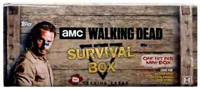 The Walking Dead Survival Box Trading Card HOBBY Box [4 MINI Boxes]