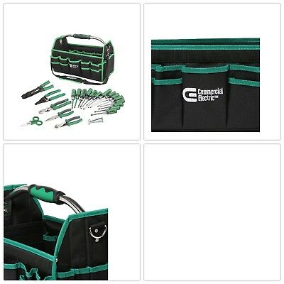 22-Piece Electrician's Tool Set Home or Jobsite Ergonomic Bag With Many Pockets