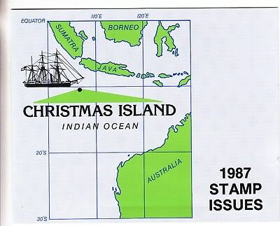 Christmas island: 1987 Stamp issues Official Post office pack. MUH & cheap
